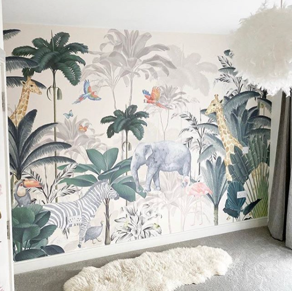 mural wallpaper for kids, bespoke wallpaper, custom wallpaper, nursery wallpaper