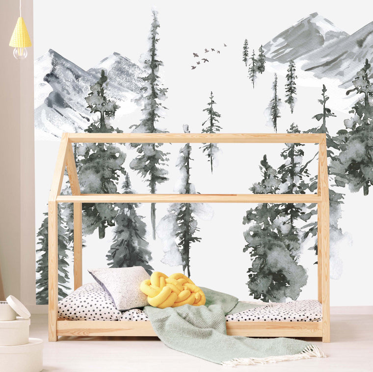 forest wallpaper mural | munks and me