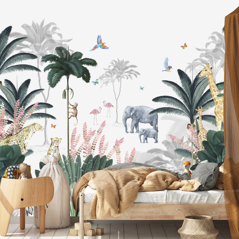 Leopard and Friends Jungle Wallpaper Mural