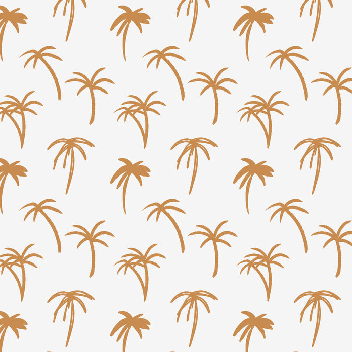 The Noa Tropical Palm Print Wallpaper - Mustard