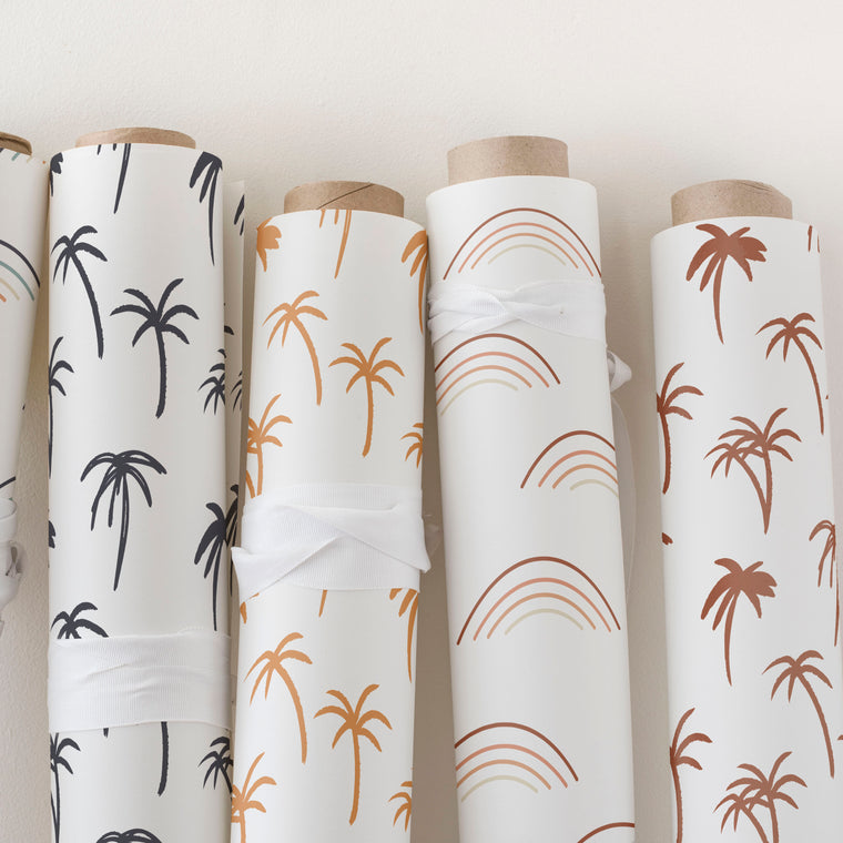 The Noa Tropical Palm Print Wallpaper - Navy