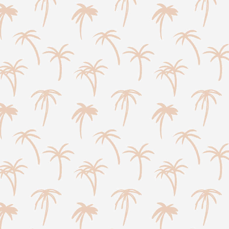 The Noa Tropical Palm Print Wallpaper - Pink