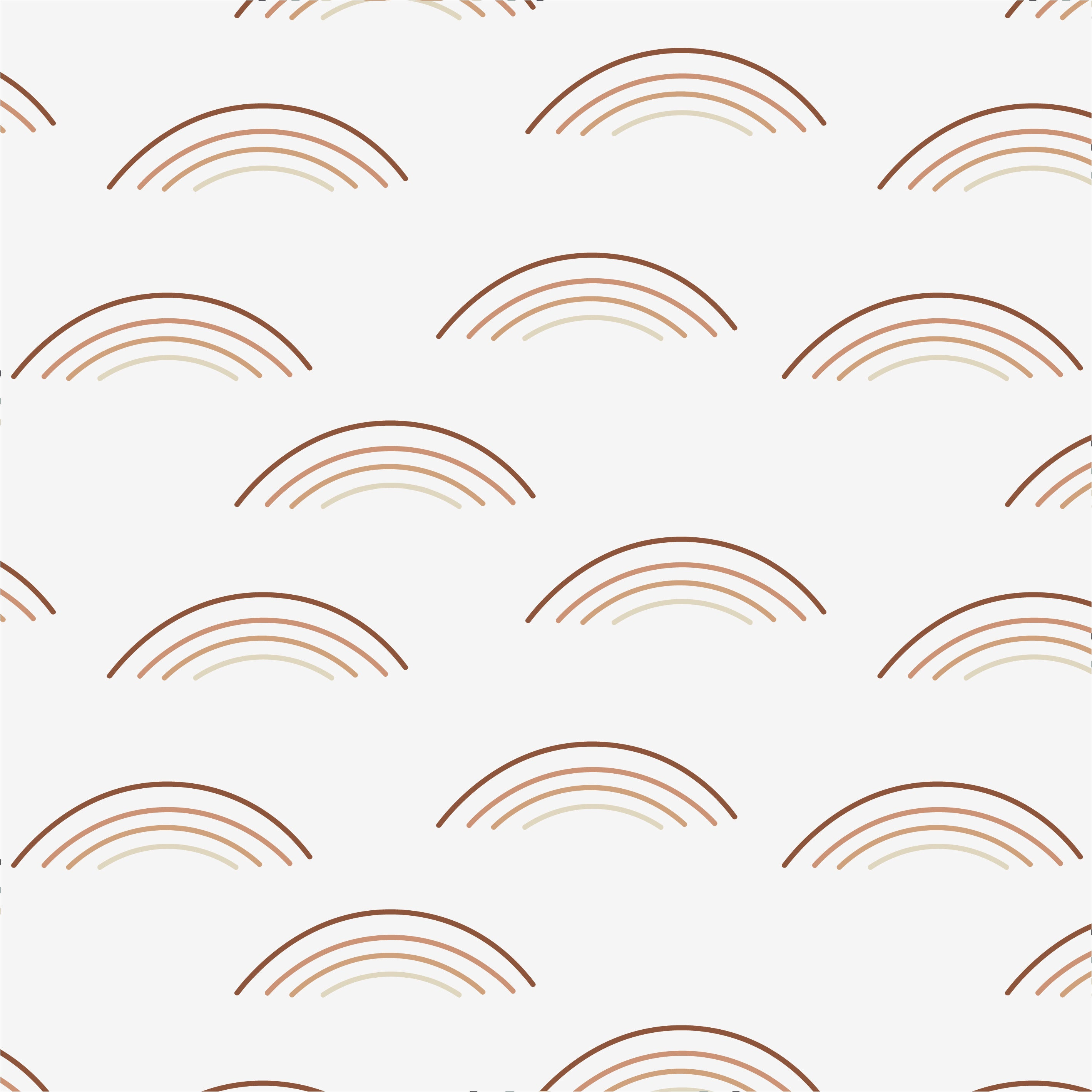 The Rainbow Wave Print Wallpaper - Rust