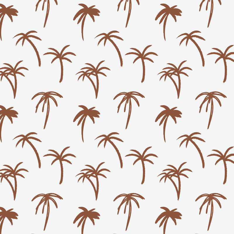 The Noa Tropical Palm Print Wallpaper - Rust