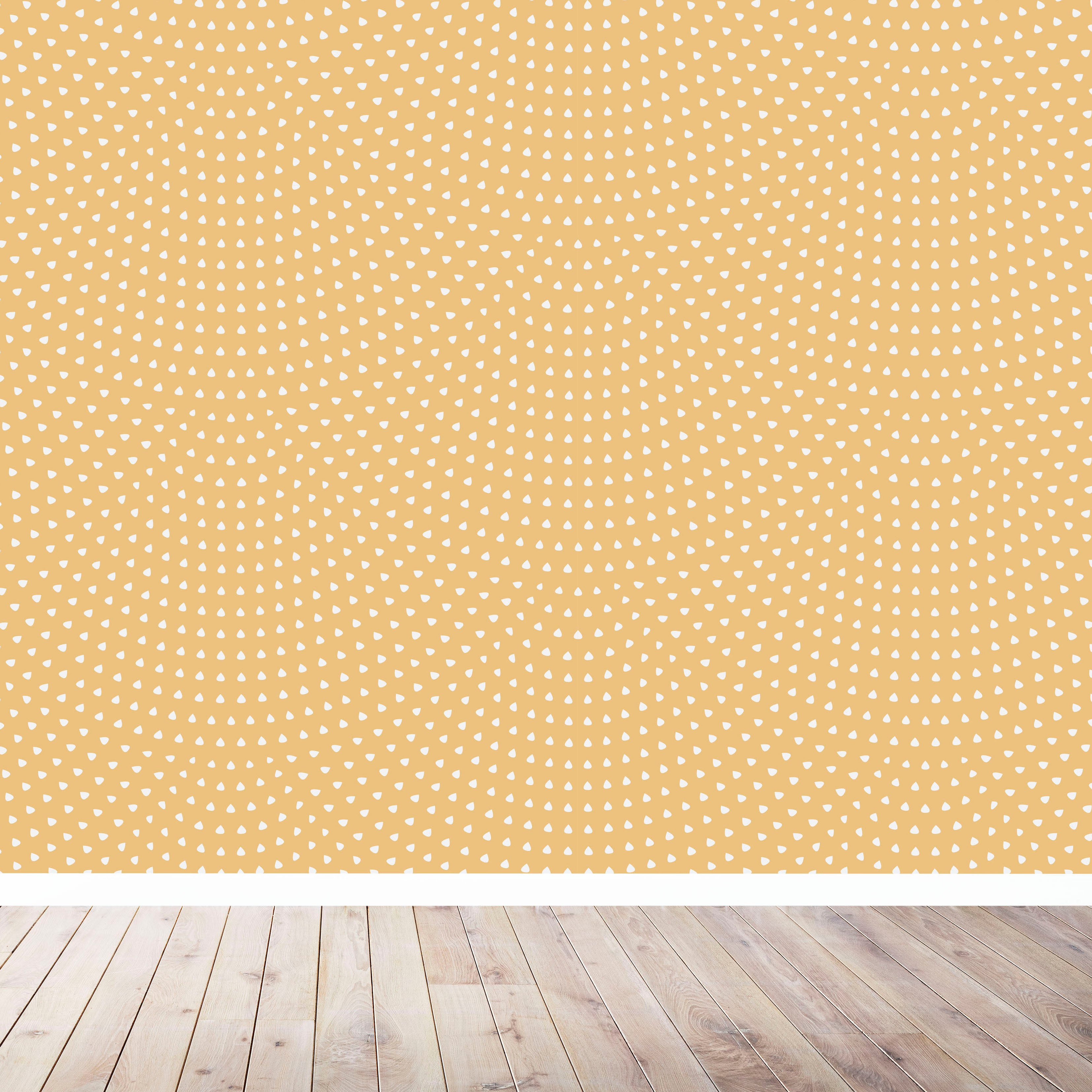 Scallop Wallpaper | Mustard