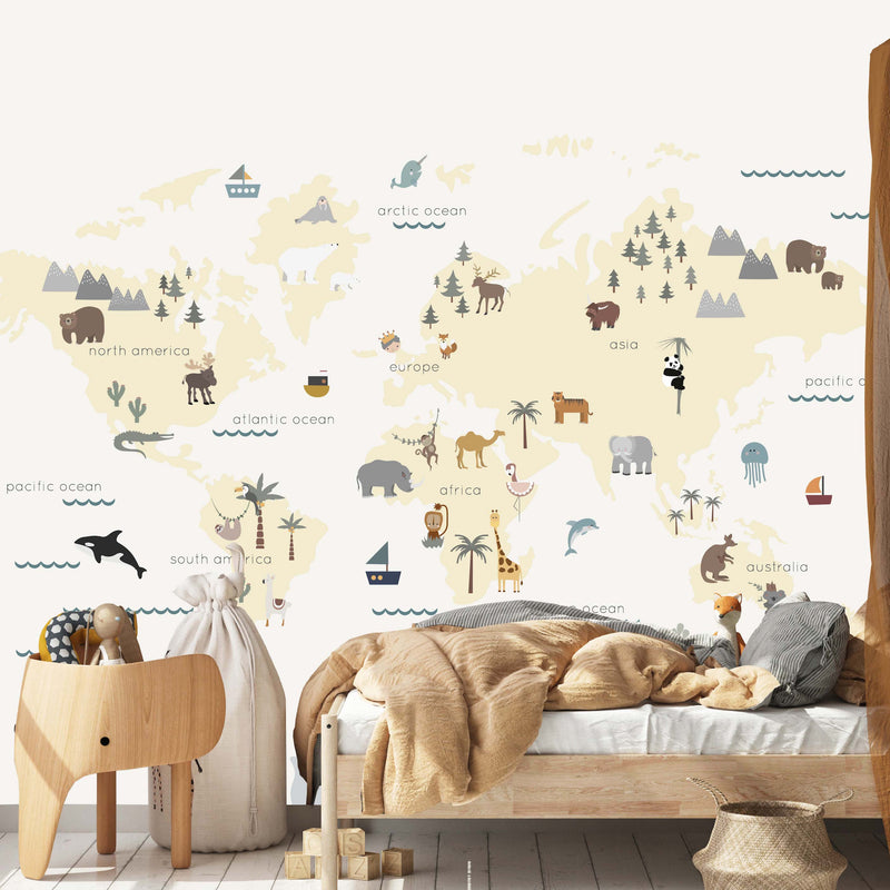 map mural for kids