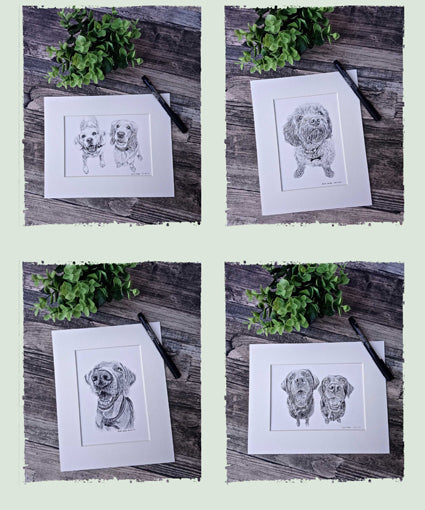 *NEW* Smaller Size Option on Pet Portrait Sketches