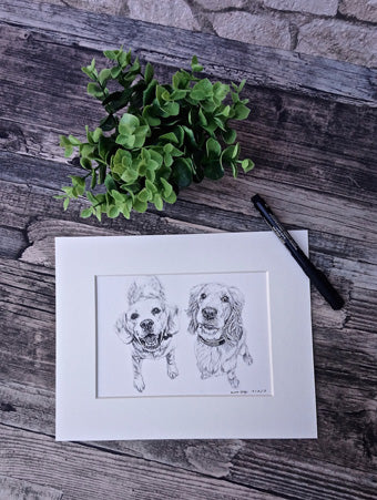 Charcoal Portrait of Max and Milo - From Start to Finish