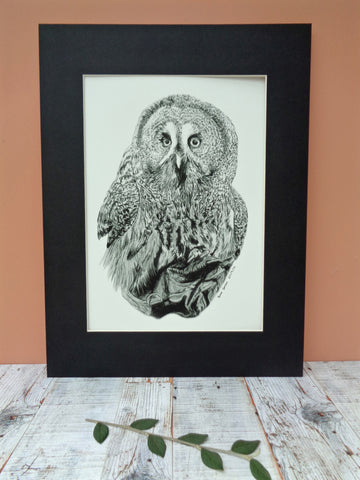 Large Owl Giclee Print