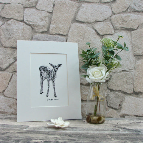 Small Deer Giclee Art Print