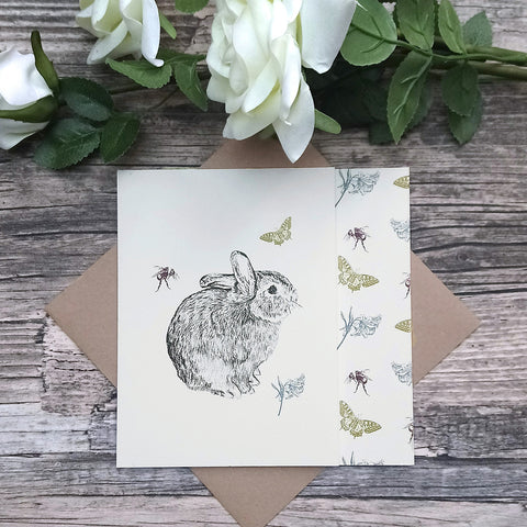 Bunny and Butterfly Card - Bella & Bryn