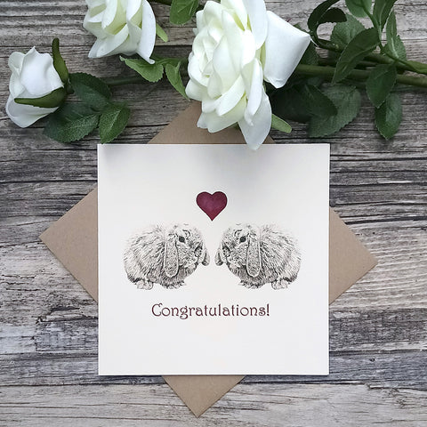 Congratulations Bunny Card - Bella & Bryn