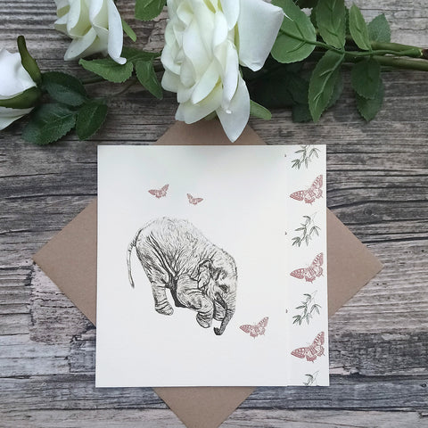 Elephant and Butterfly Card - Bella & Bryn