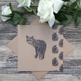 Fox and Pine Cone Cutaway Card - Bella & Bryn
