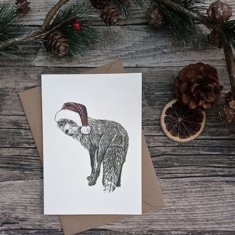 fox-santa-hat-christmas-card