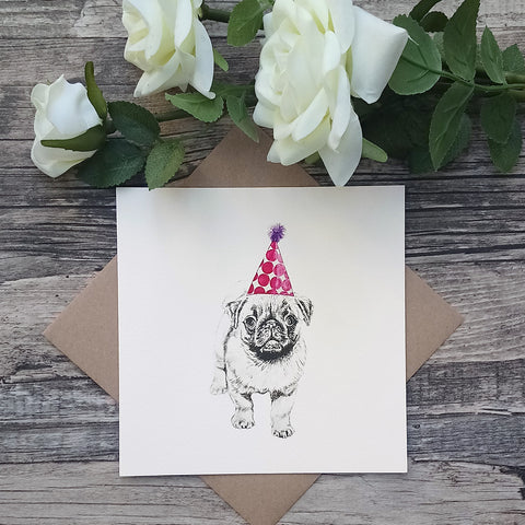 Priscilla the Pug Birthday Card - Bella & Bryn