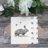 Hare and Bee Card - Bella & Bryn