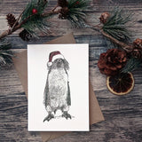penguin-santa-hat-christmas-card