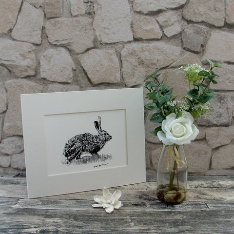 Small Hare Giclee Art Print