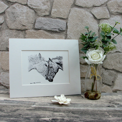 Small Horses Giclee Art Print