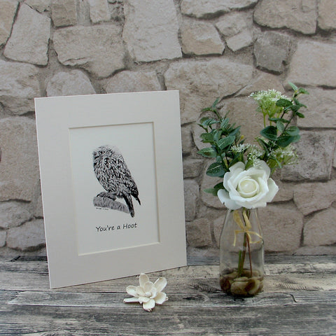 "Small ""You're a Hoot"" Giclee Art Print"