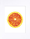 "Blood Orange 8""x10"" matted print"