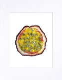 "Passion Fruit 8""x10"" matted print"