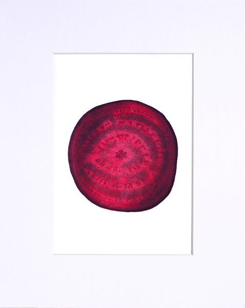 "Red Beet 5""x7"" matted print"