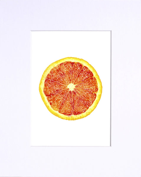 "Blood Orange 5""x7"" matted print"