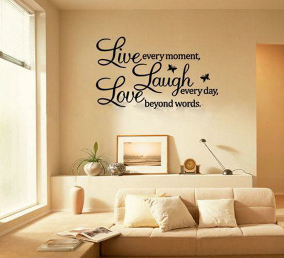 Live, Laugh, Love Wall Art Decal Text - Thirsty Buyer