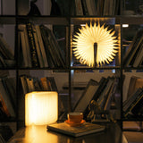 COZY HOME'S Wireless Wooden LED Folding Book w/ Magnetic Clip