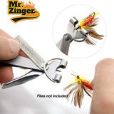 "4-in-1 ""Mr. Zinger"" Knot Tying Tool w/ Clip-on Retractable Cord - 2 per Pack!"