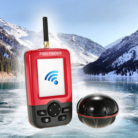 """Pocket Portable"" Wireless ICE FISHING Color LCD Fish Finder - NEW"