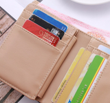 "Ladies ""Golden Big Buck"" Elegant Tri-fold Leather Wallet - Assorted Colors"