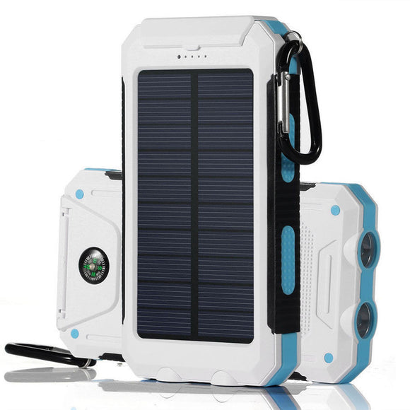 Solar Battery Dual Power-Bank CHARGER for SMARTPHONES - WaterProof w/ Built-in Lights & Compass - Thirsty Buyer - 11