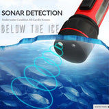 "Pocket Portable ""FLASH"" Ice Fishing Finder & Locator w/ Brite-Lite Technology - Read Whats Below the Ice in Seconds"