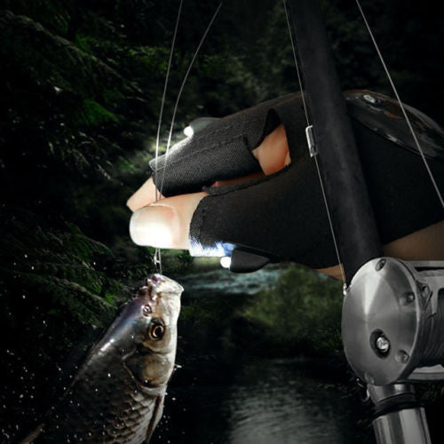 Flex Fit LED Night Fishing Glove - Light when You Need it!