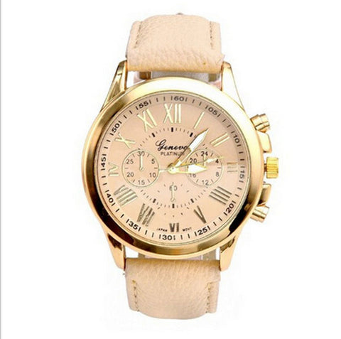 "Women's ""Ultra Classy"" Beige Quartz Wrist Watch - Thirsty Buyer - 1"
