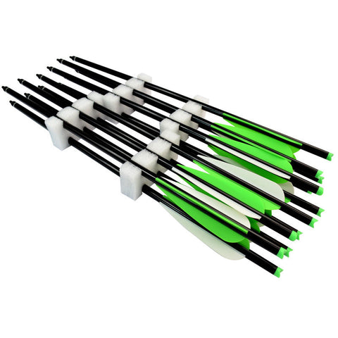 """Big Hit"" Crossbow Aluminum Bolts - 6-Pack Available in 4 Sizes"