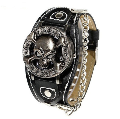 The Skull & Bones Chain Cuff Watch - Thirsty Buyer - 1