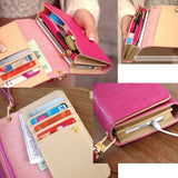 Ladies Elegant Leather Interchangeable Wallet/Purse - Assorted Colors
