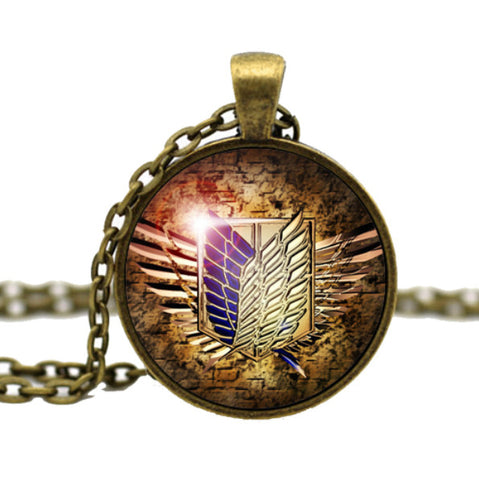 "Attack on Titan ""Wings of Liberty"" Vintage Pendant Necklace - Thirsty Buyer"