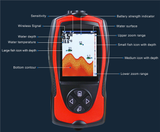"Ice Fishing WIRELESS Color ""Pocket Portable"" LCD Fish Finder V2.0 - We Cut the Cable!"
