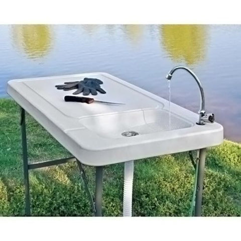 Fishing Hunting Portable Outdoor Cleaning Table W Wet Sink