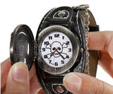 The Skull & Bones Chain Cuff Watch - Thirsty Buyer - 4