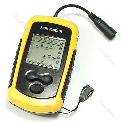 "ice fishing ""pocket portable"" lcd mobile sonar fish finder w/ led, Fish Finder"