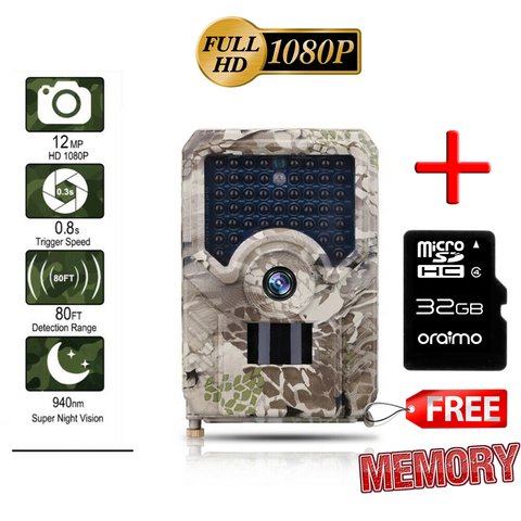 """Big Rack"" 1080p 12 MegaPixel IR Night Vision Trail Camera - Captures Video & Pictures"