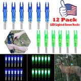 "Compound Bow ""LIGHTED"" LED Arrow Nocks - 12 pack Super Deal"