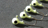 Ice Fishing Luminous Glow Jig Heads - 20 pack