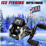 "ICE FISHING PRO LCD Digital Display Depth Finder ""ICE REEL""  - Keeps Your Lure Level With The Fish!"